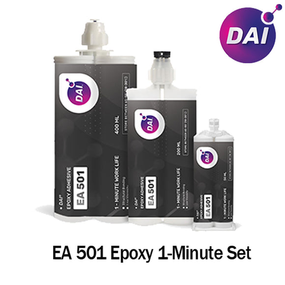 DAI Epoxy EA 501 - Very Fast Set 1 Min-Medium Viscosity-Translucent Clear-1:1 ratio