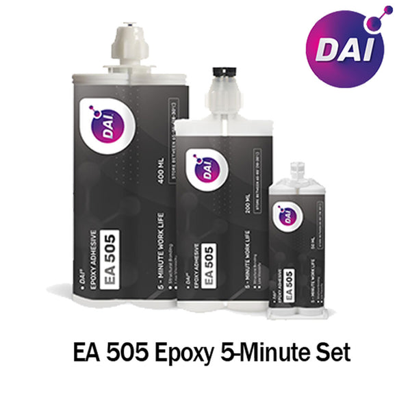 DAI Epoxy EA 505 - Fast Set 5-Min Epoxy-Thin-Medium Viscosity Translucent Clear-1:1 ratio