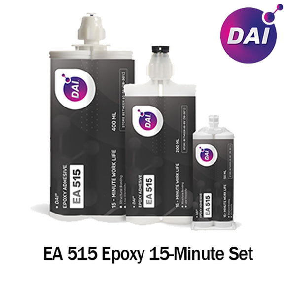 DAI Epoxy EA 515 - Medium Set 15-20 -Min Epoxy-Medium-Thin Viscosity Translucent Clear-1:1 ratio