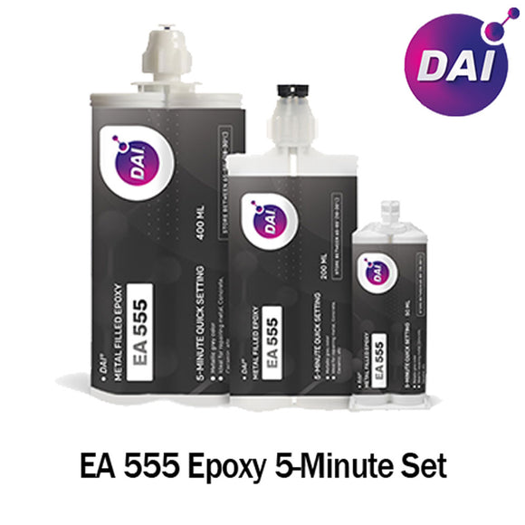 DAI Epoxy EA 555 - Fast Set 5-Min Steel Filled-Medium Viscosity-Metallic Gray Epoxy-1:1 ratio