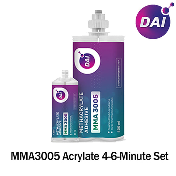 DAI MMA 3005-W  White Acrylic - Fast Set 4-6-Min MMA Adhesive-Thick/High Viscosity White Color -1:1 ratio