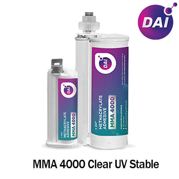 DAI MMA 4000 Acrylic - Crystal Clear Medium Set 18-Min MMA Adhesive-Low Viscosity & UV Stable Resistant-10:1 ratio
