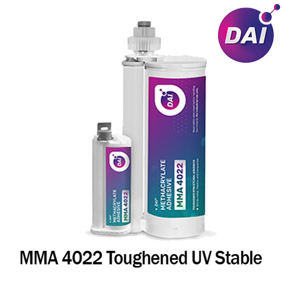 DAI MMA 4022 Acrylic - Medium Set 20-Min Toughened Impact Resistant MMA Adhesive-High Viscosity Blue-10:1 ratio