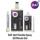 DAI Flexible Epoxy EAF 410 - Medium Set 20 minute - Flexible Temp Resistant 20-Minute Set Plastic & Metal Epoxy