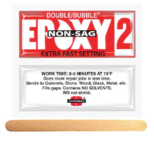 Hardman Double Bubble Red Non-Sag (No-Drip) #(04008) Extra Fast Setting Epoxy Gel