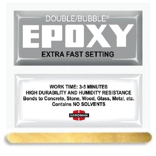 Hardman Double Bubble Silver Cold-Setting Extra-Fast Setting Epoxy (#04009)