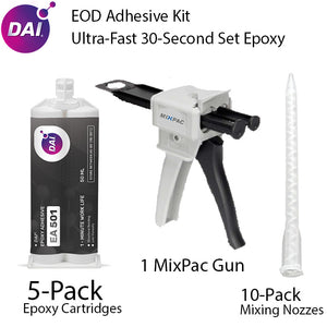 EOD Adhesive Kit - DAI 1-Minute Epoxy 5-Pack + Dispensing Kit - (MMA501)