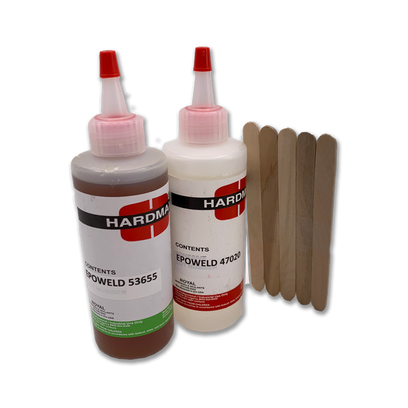 Hardman Striking Tool Epoxy - Epoweld 47020-53655  -  Slow-Setting High Impact and Strength, great for golf club and striking tool repairs