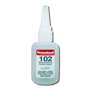 Permabond 102 Instant Adhesive-Medium Viscosity CA Super Glue, Great for Plastic & Rubber