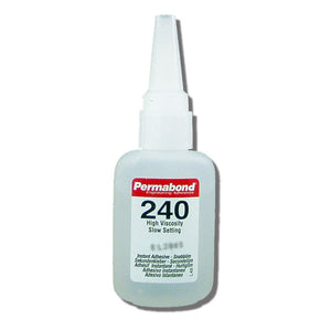 Permabond 240 Instant Adhesive-Slow-Set Gap Filling, Great for Plastic & Rubber