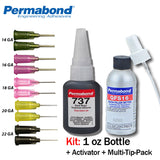 Permabond 737 Instant Adhesive-Black Magic Toughened & Flexible Temp-Resistant Gel-Gap Filling