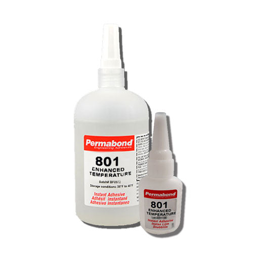 Permabond 801 Instant Adhesive-Fast-Set Temperature-Resistant Thin General Purpose