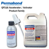Permabond QFS16 Accelerator & Activator for Cyanoacrylates (CA), Instant Adhesives, and Super Glues