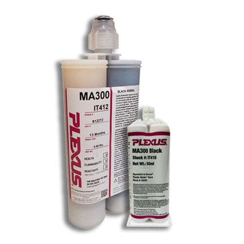 Plexus MA300 Black All Purpose High Strength 5-minute MMA Adhesive (IT410 & IT412))