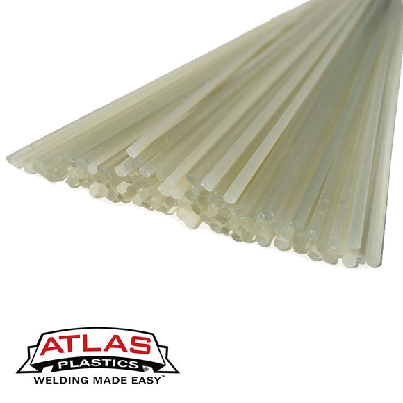 Polyvinyl Chloride PVC Plastic Welding Rods,Repair Rods-Translucent Clear (12-Inch x 1/8in or 3mm dia)