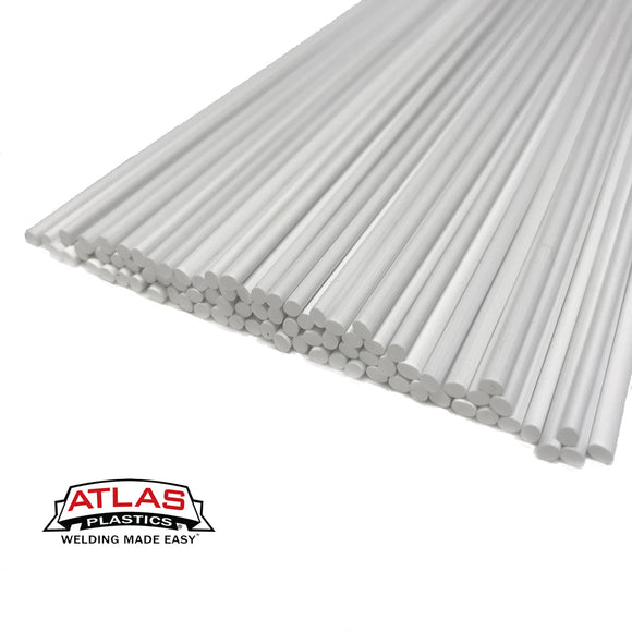 Polyvinyl Chloride PVC Plastic Welding Rods,Repair Rods-White (12-Inch x 1/8in or 3mm dia)