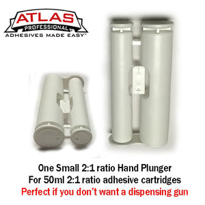 Atlas Professional Small Manual Hand Plunger for 50ml 2:1 ratio cartridges