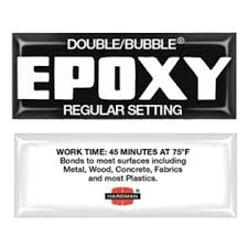 Hardman Double Bubble Black Regular Setting (45 min) Thin Epoxy (#04006)