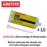 Loctite EA (Hysol) 608 Fast Setting 5-minute Crystal Clear General Purpose Epoxy