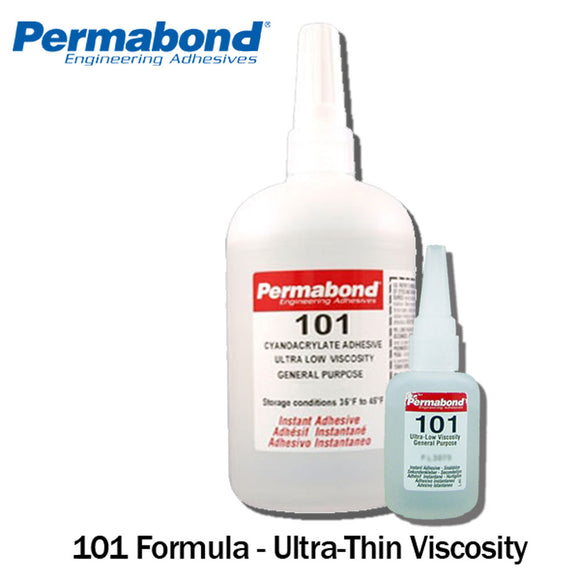 Permabond 200 1oz 10-pack+asc10 Instant Adhesive-fast Set Thick Gap Filling Pure White And Translucent