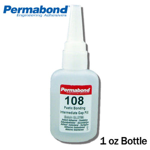 Permabond 108 Instant Adhesive-Fast-Set-Gap Filling, Great for Plastic & Rubber