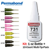 Permabond 731 Instant Adhesive-Toughened & Flexible Slow-Set General Purpose