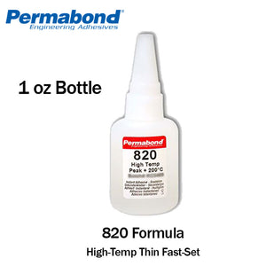 Permabond 820 Instant Adhesive-Fast-Set Temperature-Resistant Thin General Purpose
