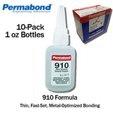 Permabond 910 Instant Adhesive-Fast-Set Low Viscosity Thin Metal-General Purpose