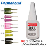 Permabond 947 Instant Adhesive-Low Odor, Non-Frosting Non-Fogging Thick Gap Filling