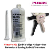 Plexus MA685 Clear 10-minute MMA Adhesive (35ml - 68505 - Resistant to UV Temp & Chemicals