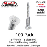 Small Mixing Nozzles for 50ml Cartridges - 3 5/16-inch 13-element Static Mixers