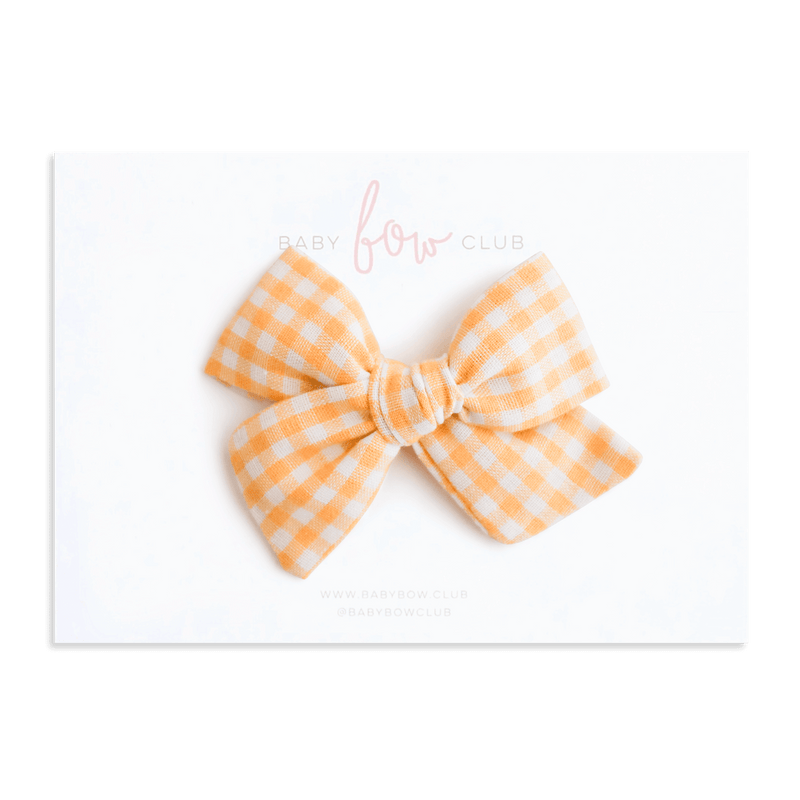 Sunshine Gingham // Audrey Bow