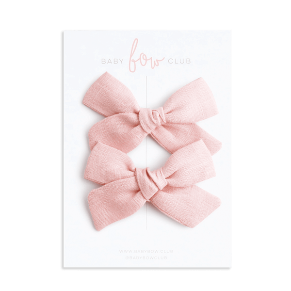 Pink Linen // Petite Frankie Bow