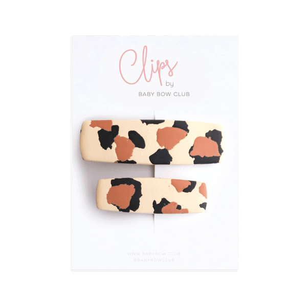 Clay Clip Set - Leopard