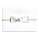 Mint Cream // Leather Knot Bow