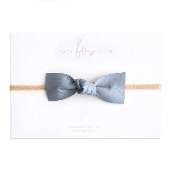 Cerulean // Leather Knot Bow