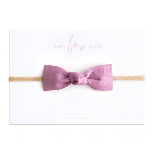 Orchid // Leather Knot Bow