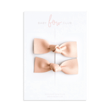 Almond // Leather Knot Bow