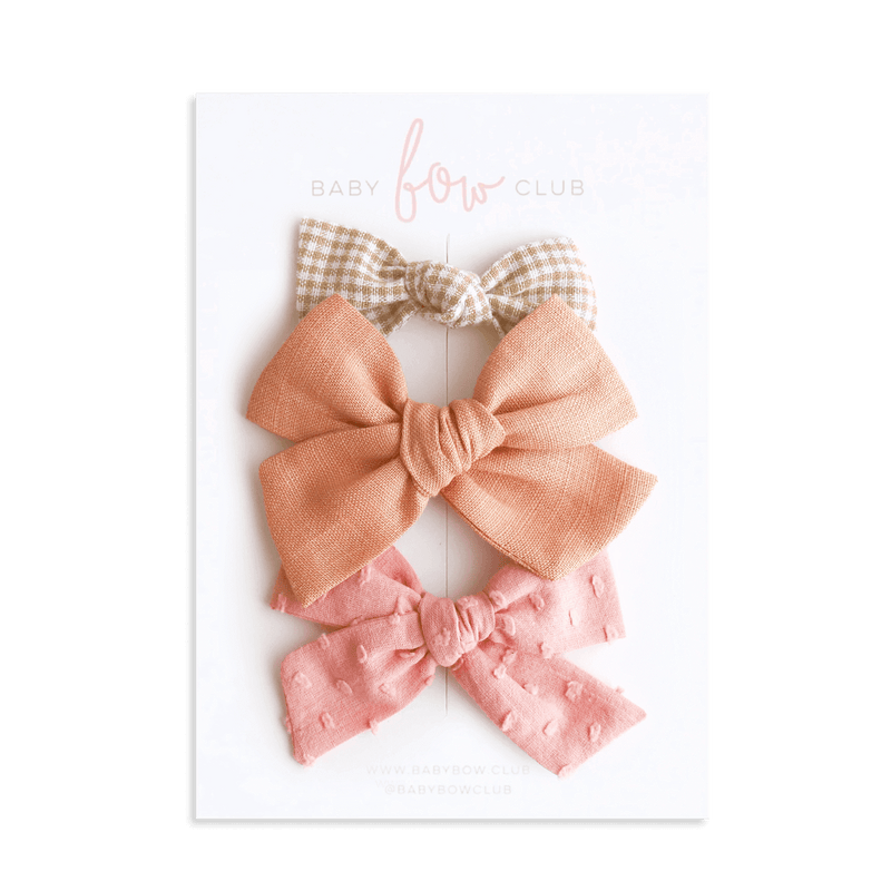 Autumn Blush // Bow Set