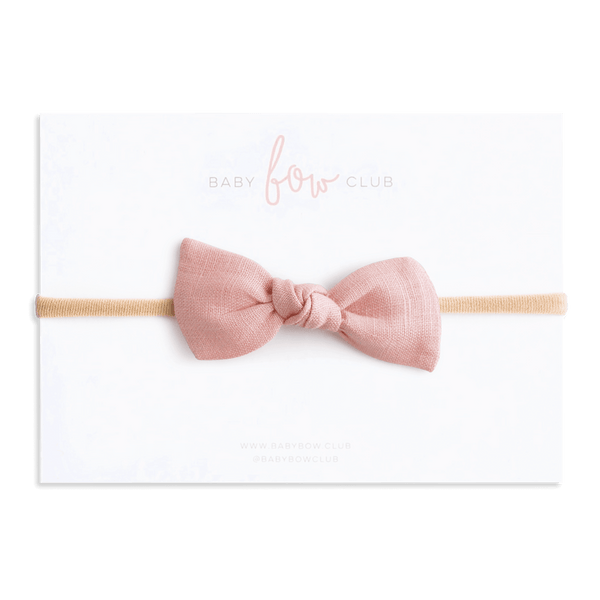 Pink Linen // Knot Bow