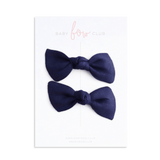 Navy Linen // Knot Bow