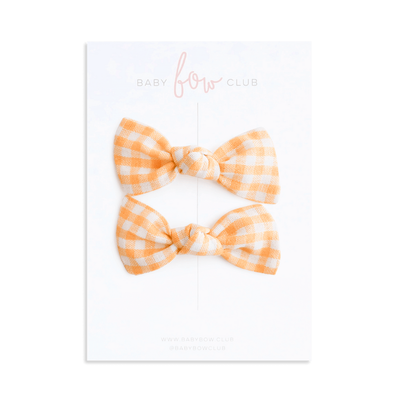 Sunshine Gingham // Knot Bow
