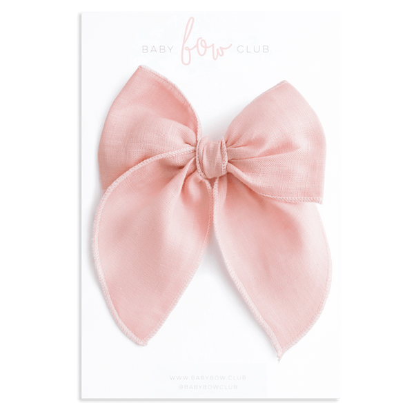 Pink Linen // Lola Bow