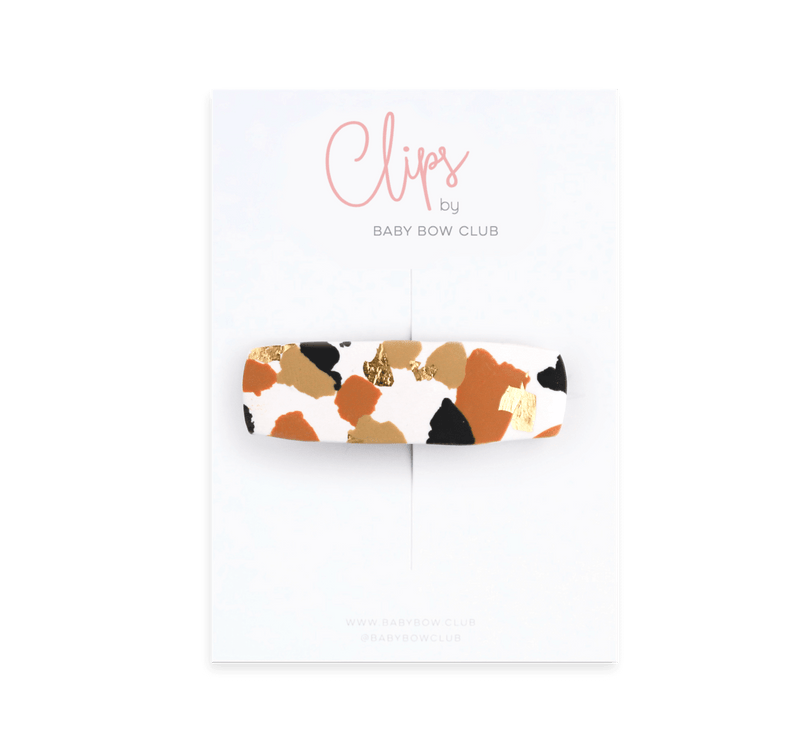 Clay Clip - Organic Dots // Ginger