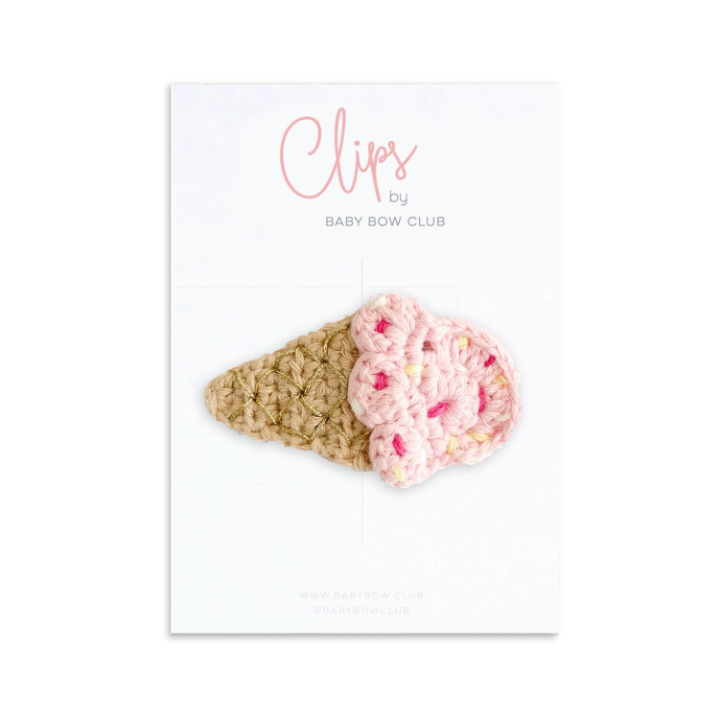 Ice Cream Crochet Clip