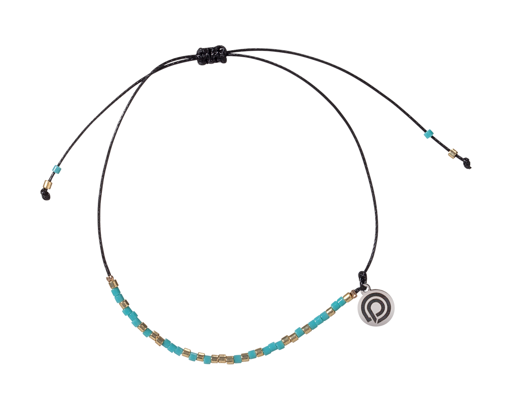 SEED BEAD BRACELET/ANKLET - TURQUOISE
