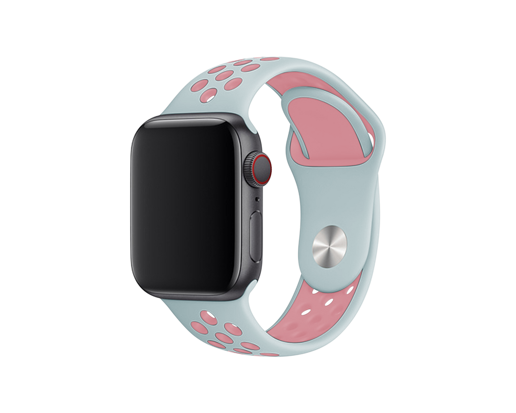 ATHLETIC APPLE WATCH BAND - MINT & ROSE