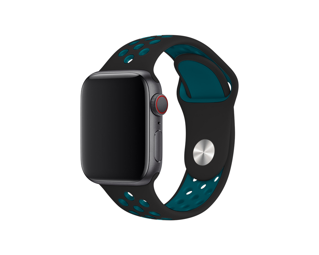 ATHLETIC APPLE WATCH BAND - BLACK & LAGOON