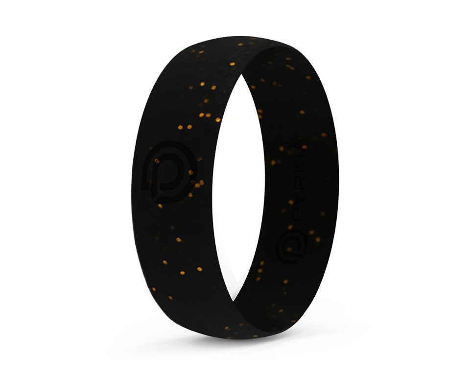 NIGHT STAR GOLD SILICONE RING
