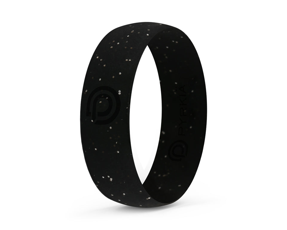 NIGHT STAR SILVER SILICONE RING